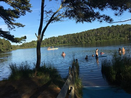Wellfleet Cape Cod vacation rental - Long Pond with a floating dock
