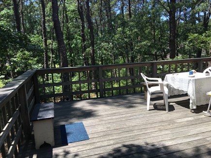 Wellfleet Cape Cod vacation rental - Spacious deck. Access from the kitchen with a sliding door.