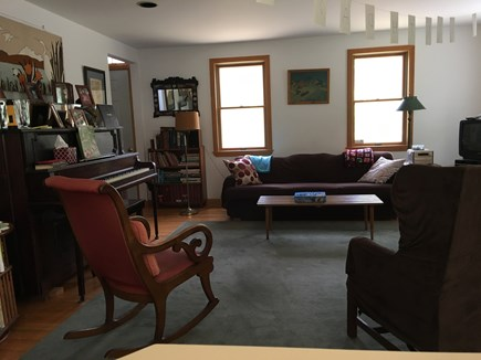 Wellfleet Cape Cod vacation rental - Cozy living Room with TV/DVD/Stereo