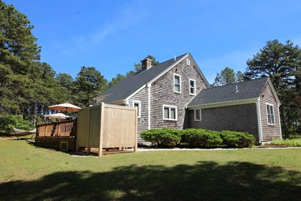 Wellfleet Cape Cod vacation rental - Nice back yard with enclosed outdoor shower and deck