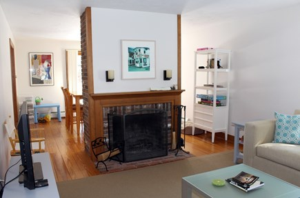 Wellfleet Cape Cod vacation rental - Living room opens to dining room