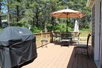 Wellfleet Cape Cod vacation rental - Large deck with gas grill and outdoor furniture