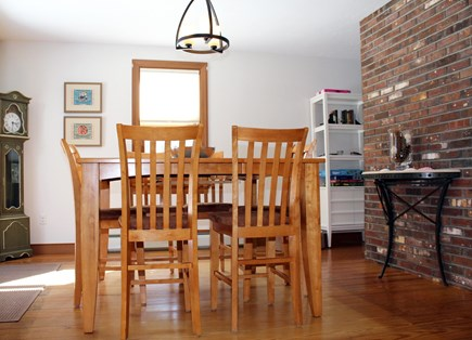 Wellfleet Cape Cod vacation rental - Open and bright dining room has slider to deck