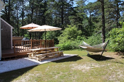 Wellfleet Cape Cod vacation rental - Enjoy the yard and relax in the hammock
