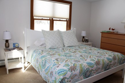 Wellfleet Cape Cod vacation rental - First floor bedroom with king bed and ensuite bathroom