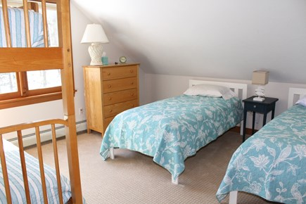 Wellfleet Cape Cod vacation rental - Second floor bedroom with two twins and bunk bed