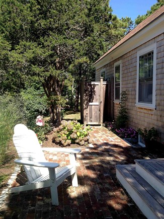 South Chatham Cape Cod vacation rental - Patio with Outdoor Shower
