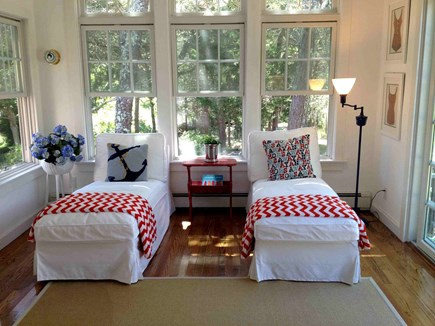 South Chatham Cape Cod vacation rental - Sun room with chaise lounges