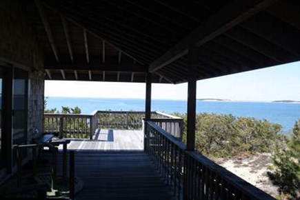Wellfleet Cape Cod vacation rental - View from covered deck