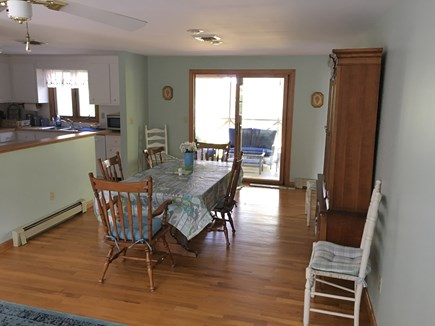 Dennis Cape Cod vacation rental - Dining table, kitchen and screened in porch