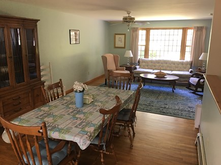 Dennis Cape Cod vacation rental - Dining table and living room