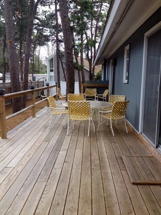 South Yarmouth Cape Cod vacation rental - Large rear deck.