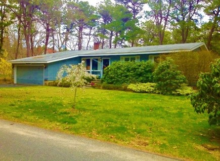 South Yarmouth Cape Cod vacation rental - Front view from home/large ranch with 2 car garage.