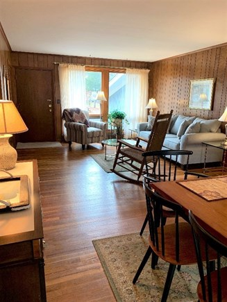 South Yarmouth Cape Cod vacation rental - Open Front to Back Living Room w/ beautiful hardwood floors.