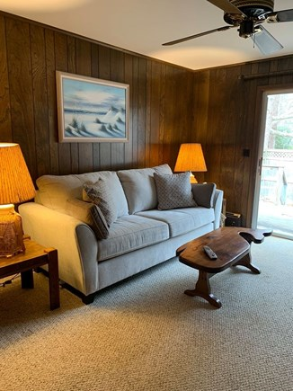 South Yarmouth Cape Cod vacation rental - Family Room leads to large rear deck.
