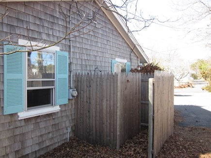 Bass River - South Yarmouth Cape Cod vacation rental - Outdoor shower prior to remodel