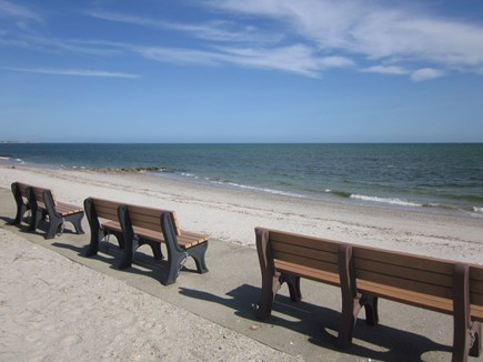 Bass River - South Yarmouth Cape Cod vacation rental - Benches at Seaview beach