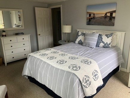 South Yarmouth Cape Cod vacation rental - Master BR w/queen size bed & French doors that open onto deck
