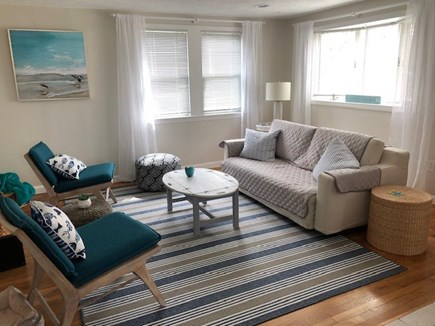 South Yarmouth Cape Cod vacation rental - Sunny family room with television and sleep sofa bed