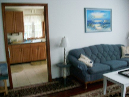 South Yarmouth Cape Cod vacation rental - Additional view of living room w/view of kitchen