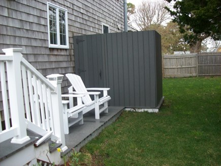 South Yarmouth Cape Cod vacation rental - Outdoor shower; has small dressing area