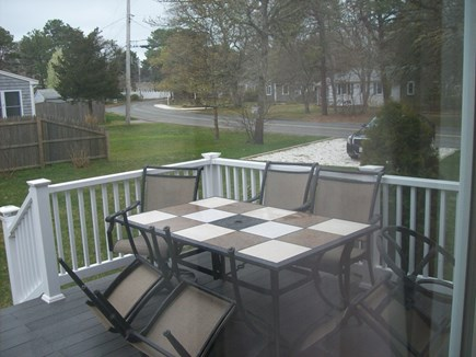 South Yarmouth Cape Cod vacation rental - Slider from kitchen to spacious deck