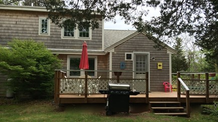 Orleans Cape Cod vacation rental - Back yard deck
