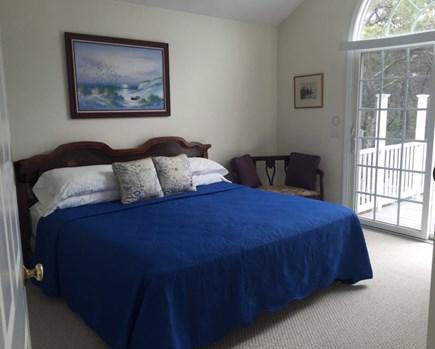 Wellfleet Cape Cod vacation rental - 1 of 4 bedrooms, 2nd floor king bed, opens onto large deck.