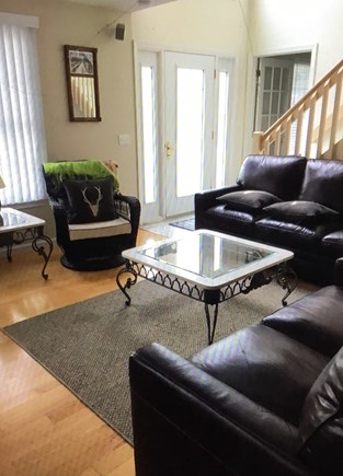 Wellfleet Cape Cod vacation rental - Brand new leather furniture in the living room.