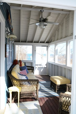 Plymouth MA vacation rental - Screened in porch - you can see and smell the ocean from here!