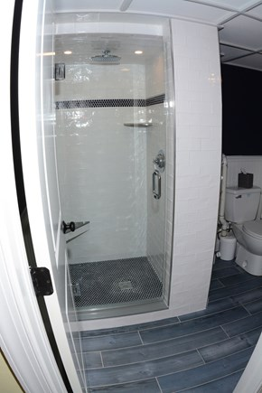 Plymouth MA vacation rental - Lower Level Bathroom, shower, toilet sink.