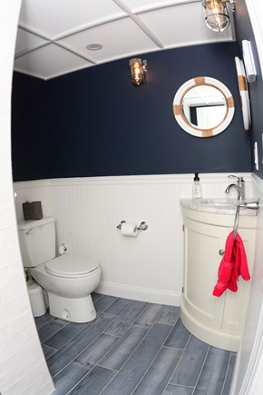 Plymouth MA vacation rental - Lower Level Bathroom, shower, toilet sink