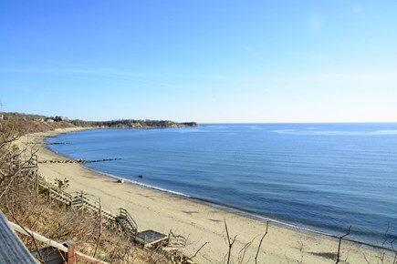 Plymouth MA vacation rental - Our private beach from the top of the bluff across the street.