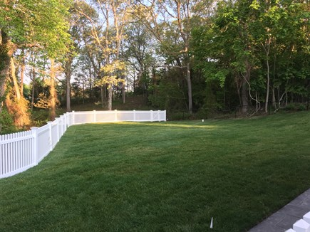 Plymouth MA vacation rental - Fully fenced-in backyard.