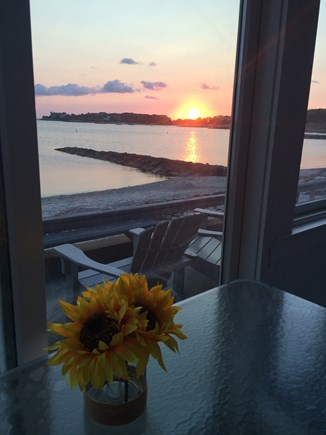 North Falmouth  New SIlver Bea Cape Cod vacation rental - Breathtaking sunsets from your ocean front deck