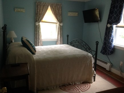 Dennis Port Cape Cod vacation rental - Bedroom #2 w/full size bed, wall mounted TV., window A/C unit.