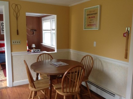 Dennis Port Cape Cod vacation rental - Eat-in kitchen. 12K BTU air conditioner window unit.