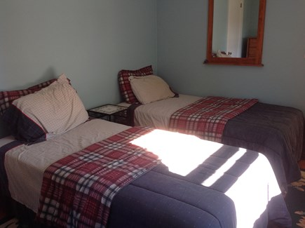 Dennis Port Cape Cod vacation rental - Bedroom #1 with 2 twin beds, TV, dresser, full closet