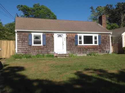 Dennis Port Cape Cod vacation rental - Front of house. Can walk around new gate to back yard