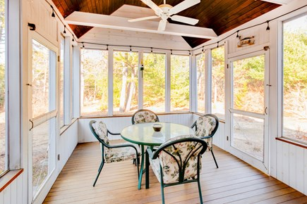 Eastham Cape Cod vacation rental - Fully screened in porch to enjoy outdoor meals.