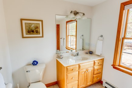 Eastham Cape Cod vacation rental - Master bathroom with shower.  All bathrooms equipped with towels.
