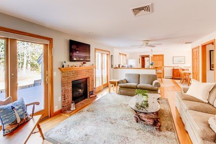 Eastham Cape Cod vacation rental - Living room perfect for a family.