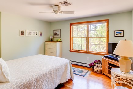 Eastham Cape Cod vacation rental - Queen bed in this upstairs bedroom with beautiful light.