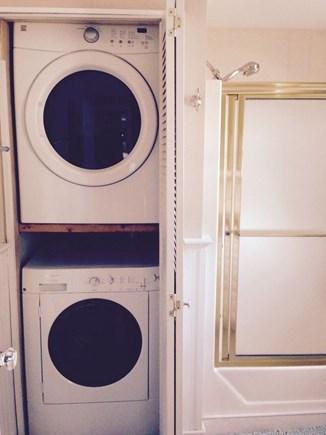 Hyannis Cape Cod vacation rental - Washer/Dryer in bathroom