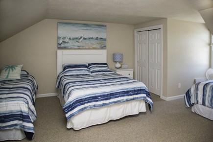Hyannis Cape Cod vacation rental - Upstairs bedroom #2:  1 queen bed & 2 twin beds