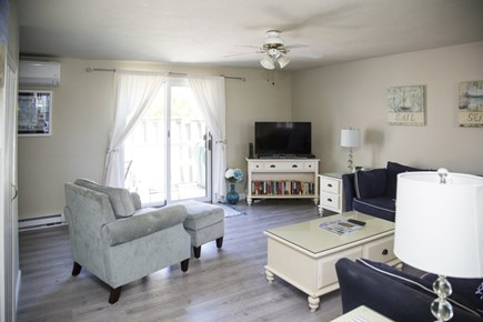 Hyannis Cape Cod vacation rental - Living room with slider to deck