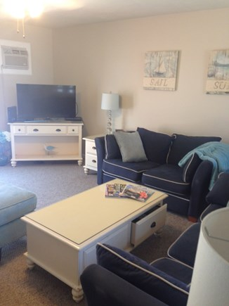 Hyannis Cape Cod vacation rental - Living room with queen sofabed, loveseat, lounge chair, ottoman.