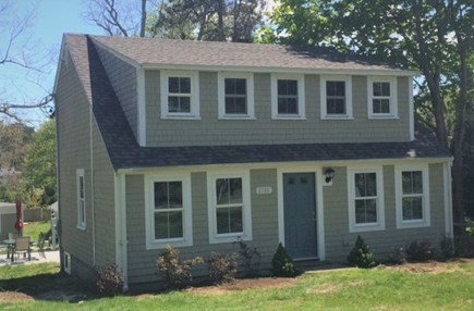 Brewster Cape Cod vacation rental - Front view of main 4 BR house