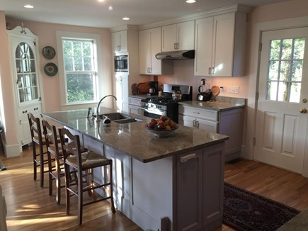 Hyannis Cape Cod vacation rental - Fully applianced kitchen w/water view