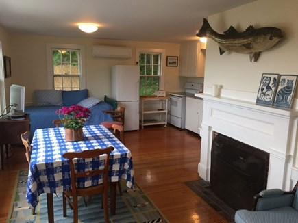 Hyannis Cape Cod vacation rental - Cottage main room w/ kitchen, dining area & twin bed